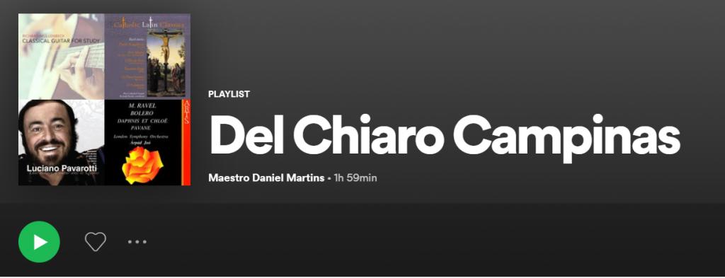 Playlist de Música Clássica e músicas para casamento do Maestro Daniel Martins da Del Chiaro Campinas.