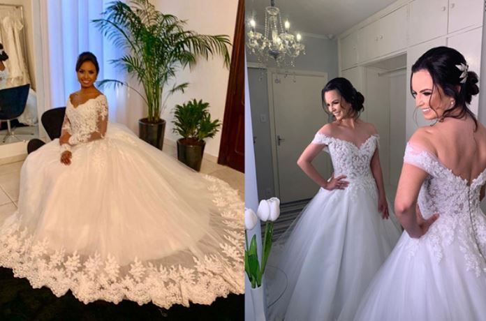 vestidos de noiva elegante
