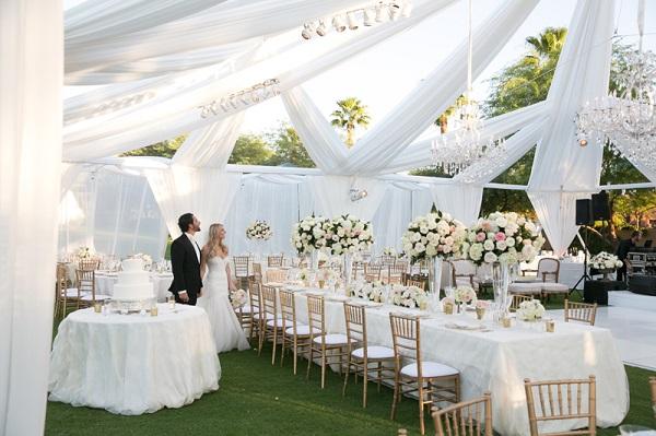 decoração branca para casamento