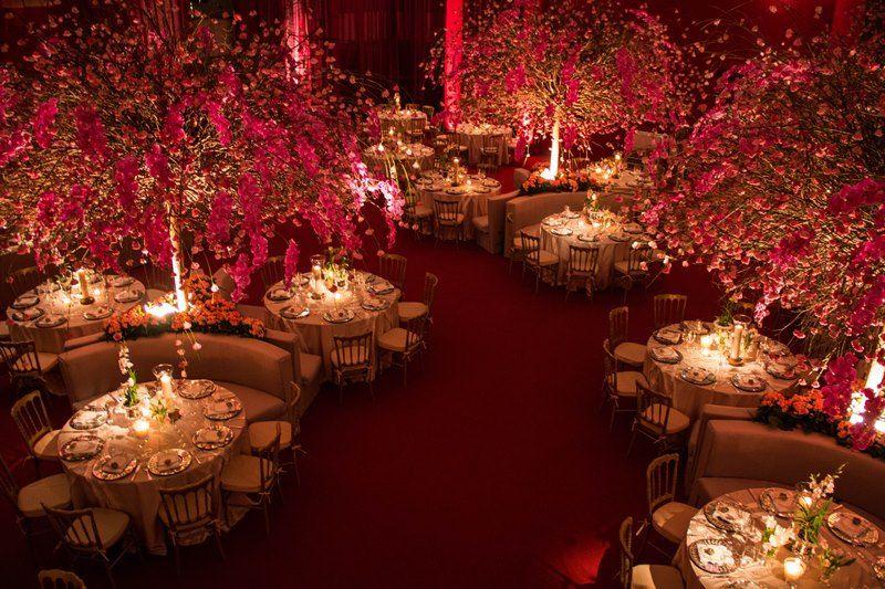 decoração vermelha