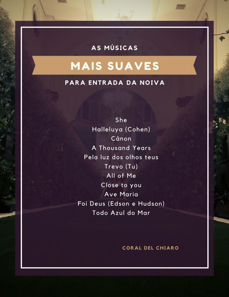 Músicas diferentes para a entrada da noiva