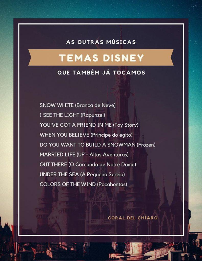Opções de Músicas da Disney para Casamento