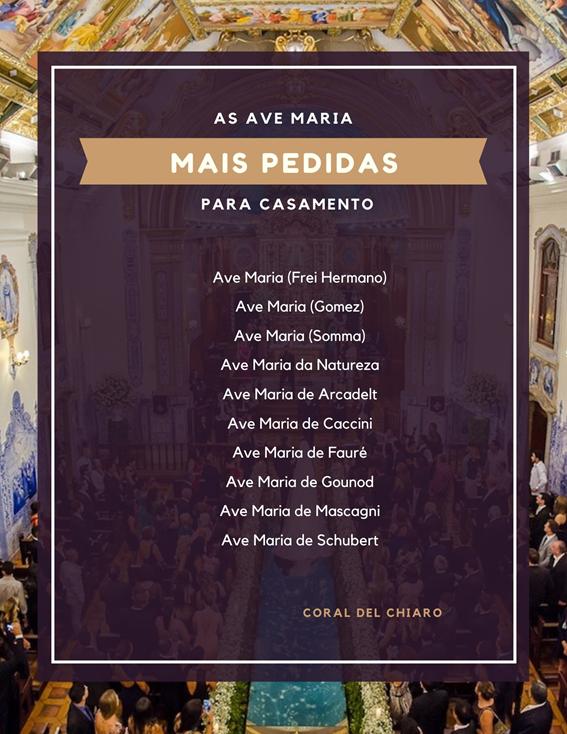 A Ave Maria para entrada da noiva