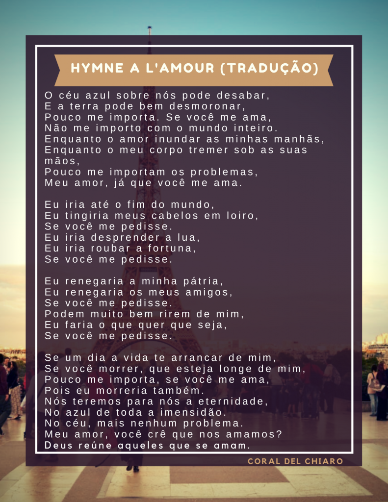 As músicas francesas para casamento eternizadas por Edith Piaf