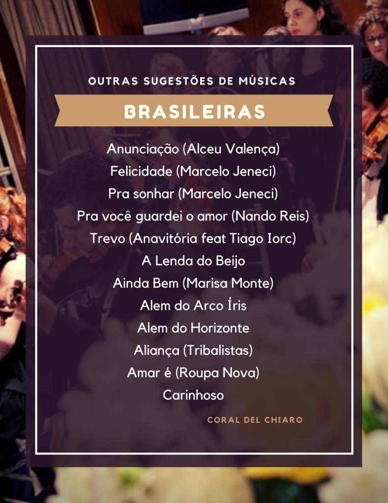 Músicas brasileiras para casamento