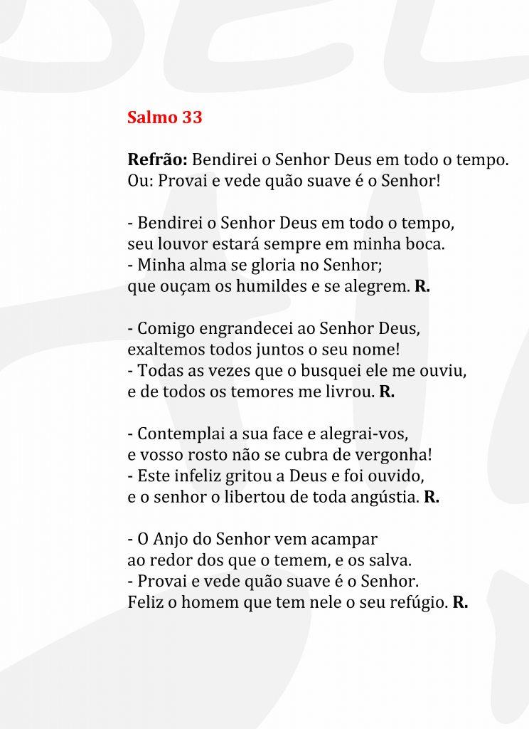 Salmo 33 para Casamento
